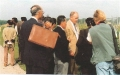 dr-ken-crookston-of-u-of-mn-explaing-soybean-research-project-to-nk-visitors-sposored-by-don-kim-jooat-u-of-m-research-plot-on-the-campus-aug-1998