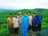 kim-joo-visiting-with-deligent-workers-at-pruning-chondukri-july-2005